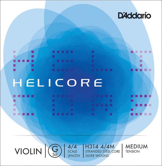 D´ADDARIO Helicore - vioolsnaren - G snaar - medium - 4/4