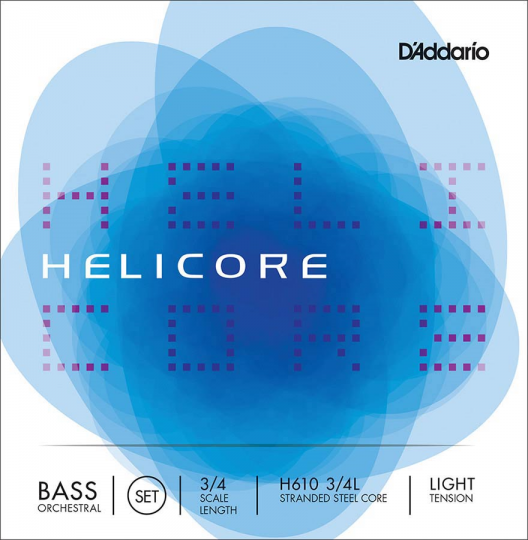D´ADDARIO  Helicore Set contrabassnaren - H,  light
