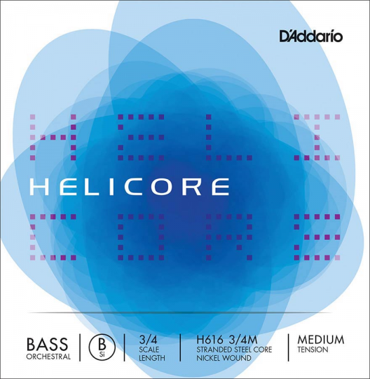 D´ADDARIO  Helicore Set snaren contrabas  - H  SOLO, medium