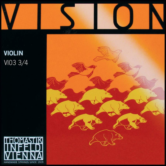 THOMASTIK  Vision  D-snaar, voor viool 3/4, medium