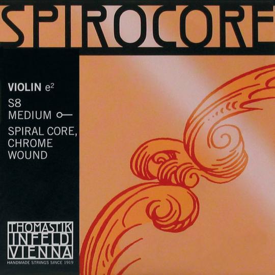 THOMASTIK  Spirocore E- snaar voor viool met kogeltje, chroom, medium