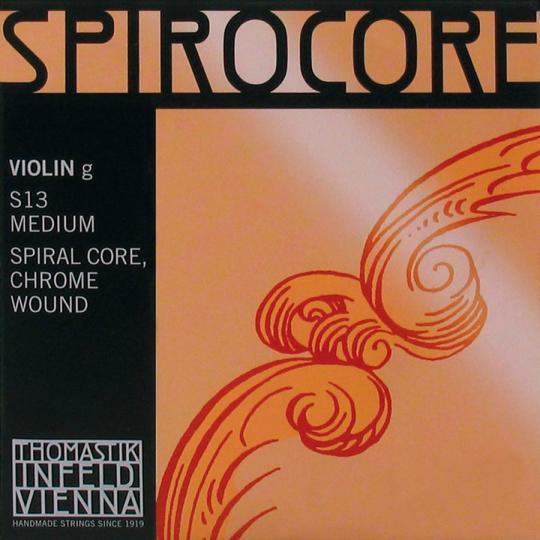 THOMASTIK  Spirocore G- snaar voor viool, chroom, medium