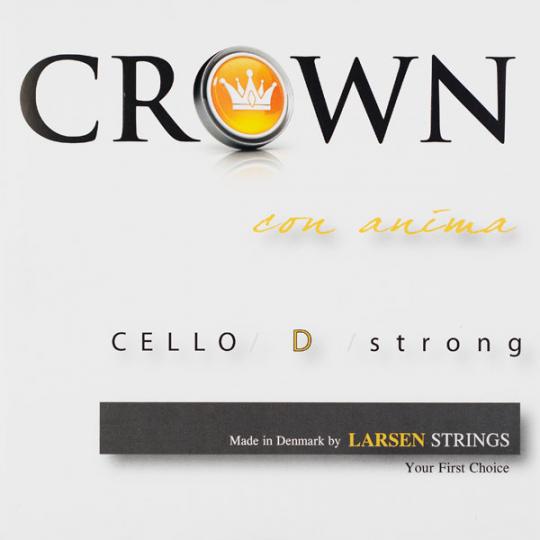 Crown Strings Violoncello, D- snaar, zillver, medium