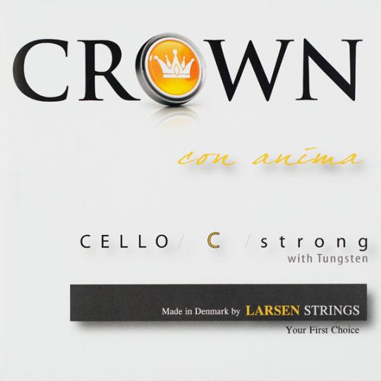 Crown Strings Violoncello, C- snaar, wolfraam/ zillver, medium