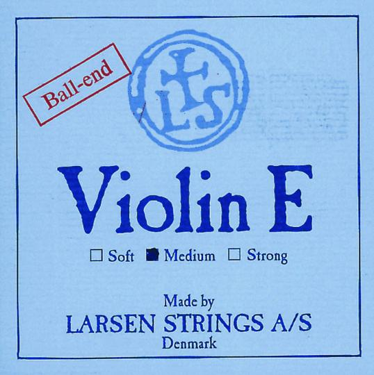 LARSEN Violin E-snaar met lusje, medium