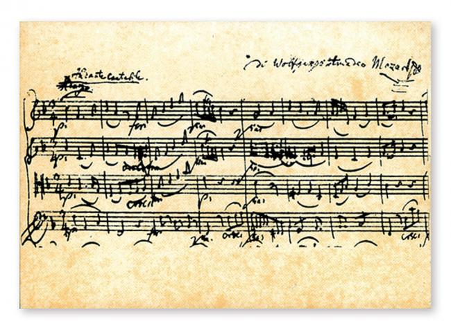 Postkaarten - Mozart