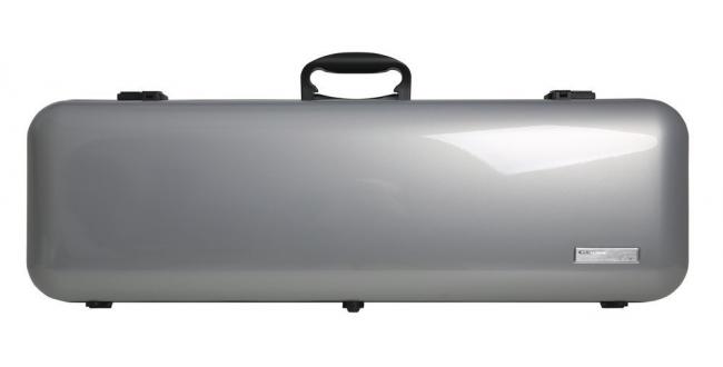 Gewa Vioolkoffer  Air 2.1, zilver metallic  hoogglans