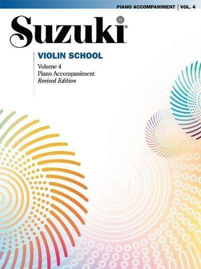 Suzuki methode viool, pianobegeleiding Boek 4