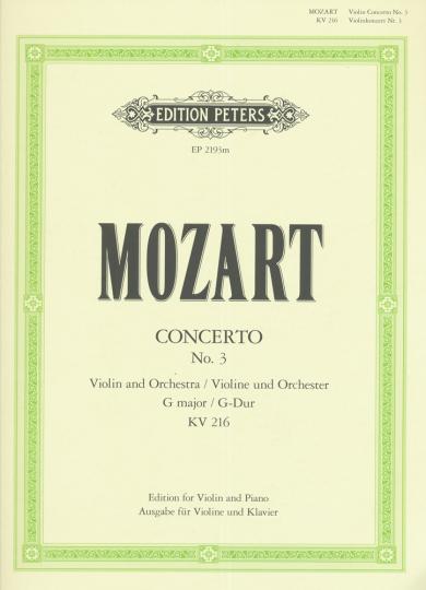 Mozart, Violin-Konzert No. 3, G-Dur, KV 216
