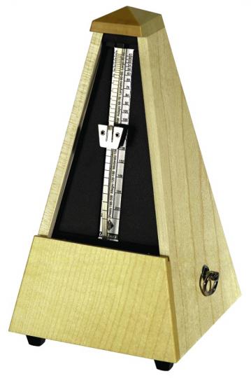 Wittner Metronoom Pyramidevorm, esdoorn natur