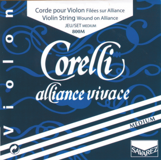 CORELLI Alliance - Set vioolsnaren - E lusje - medium - 4/4