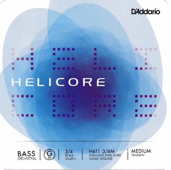 D´ADDARIO  Helicore Set contrabassnaren - H,  forte