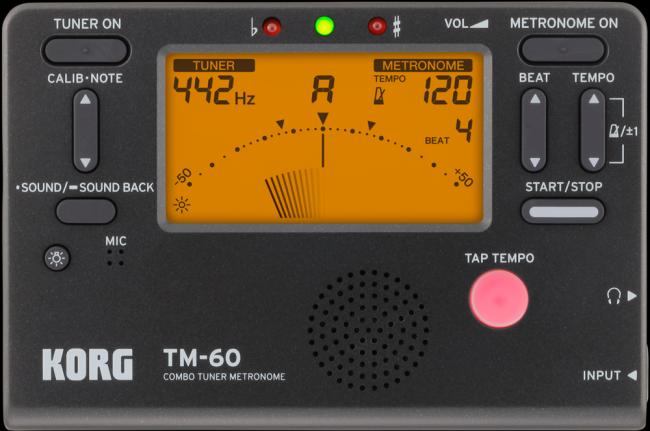 Korg TM 60 Metronoom en stemapparaat