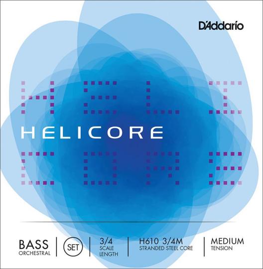D´ADDARIO  Helicore Set contrabassnaren - H,  medium