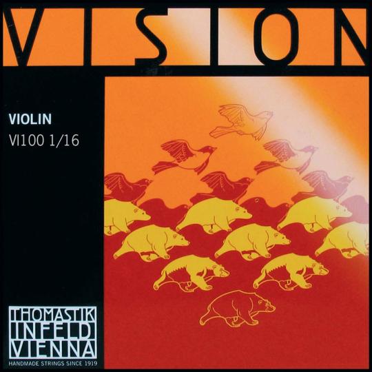 THOMASTIK  Vision Set 1/16 vioolsnaren, medium