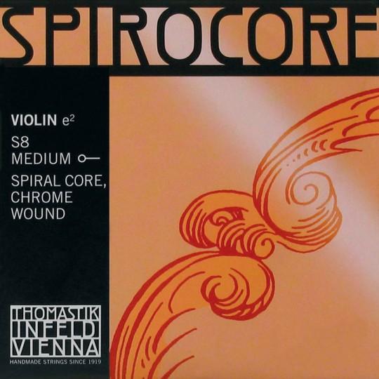 THOMASTIK  Spirocore E- snaar voor viool met kogeltje, chroom zacht