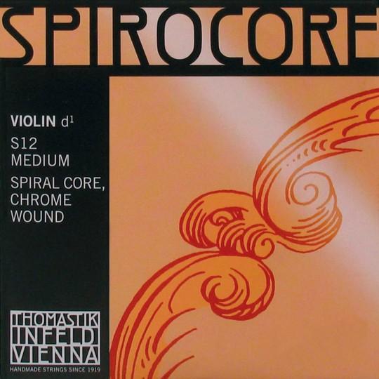 THOMASTIK  Spirocore D- snaar voor viool, chroom medium