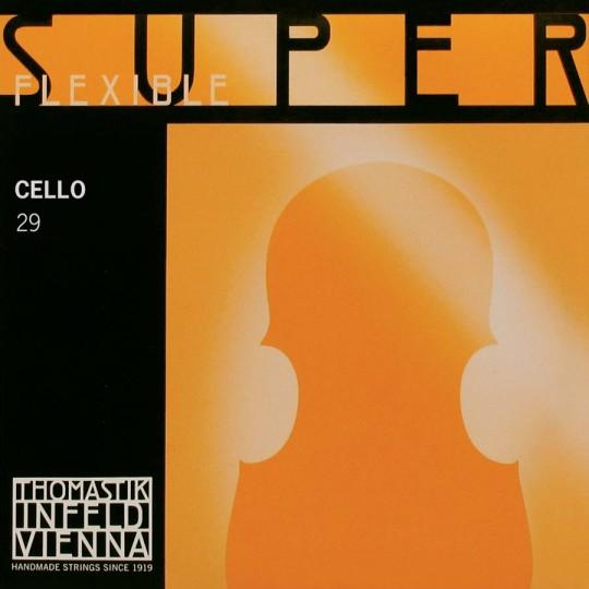 THOMASTIK  Superflexible C- snaar voor violoncello, chroomstaal, medium