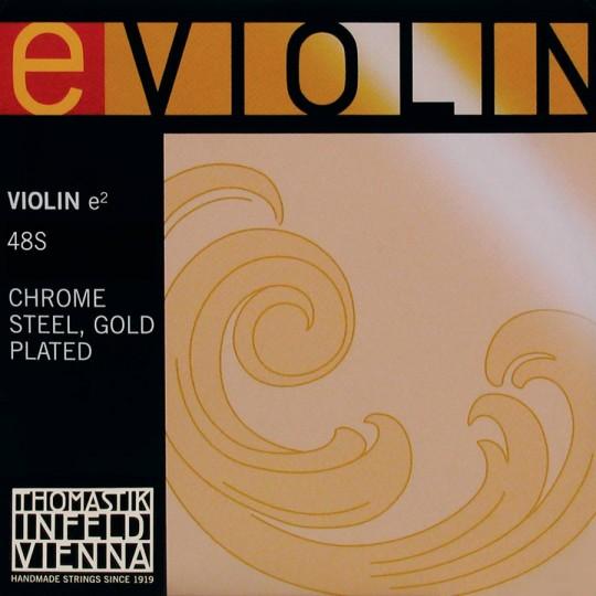 THOMASTIK  e2, E-snaar voor viool, goudstaal, hard