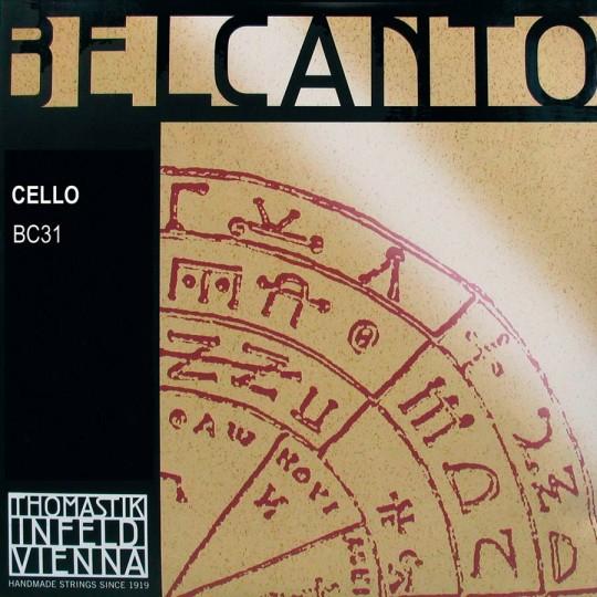 THOMASTIK  Belcanto Set voor violoncello, chroom/wolfraam, medium