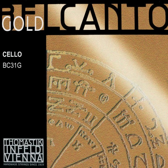 THOMASTIK  Belcanto Gold Set voor violoncello, medium
