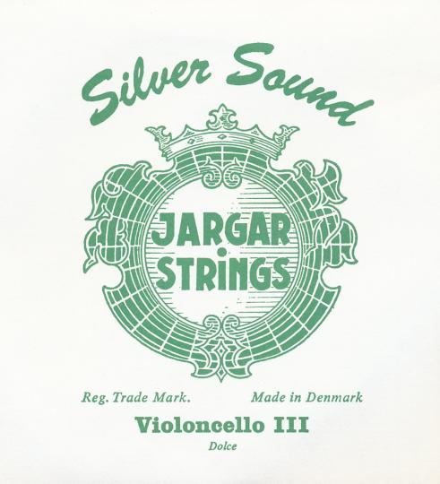 JARGAR Set Silversound voor violoncello, zilver, dolce