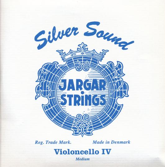 JARGAR C- snaar Silversound voor violoncello, zilver, medium