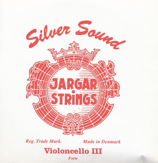JARGAR Set Silversound voor violoncello, zilver, forte