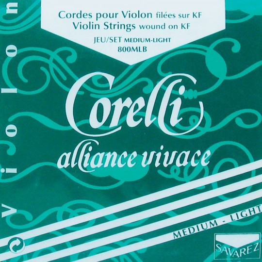 CORELLI Alliance - Set vioolsnaren - E kogel - med. light - 4/4