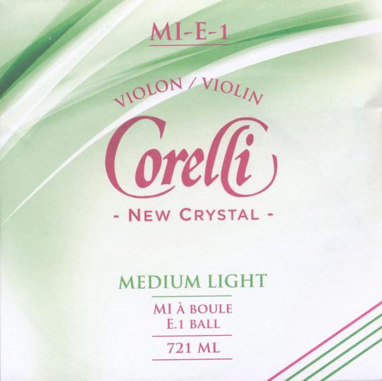 CORELLI Crystal - Set vioolsnaren - E kogel - med.light - 4/4