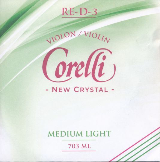 CORELLI Crystal - vioolsnaren - D snaar - med.light - 4/4
