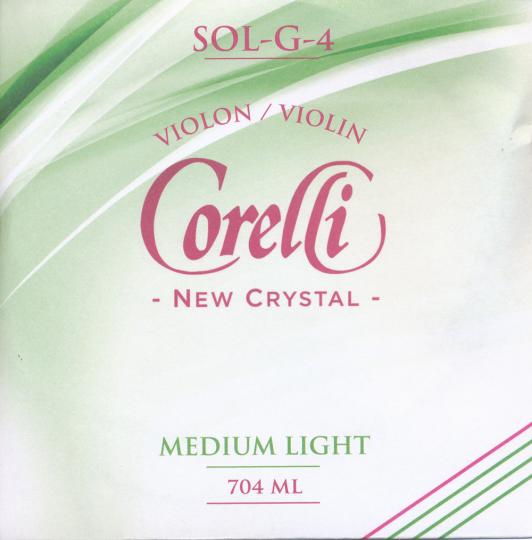 CORELLI Crystal - vioolsnaren - G snaar - med.light - 4/4