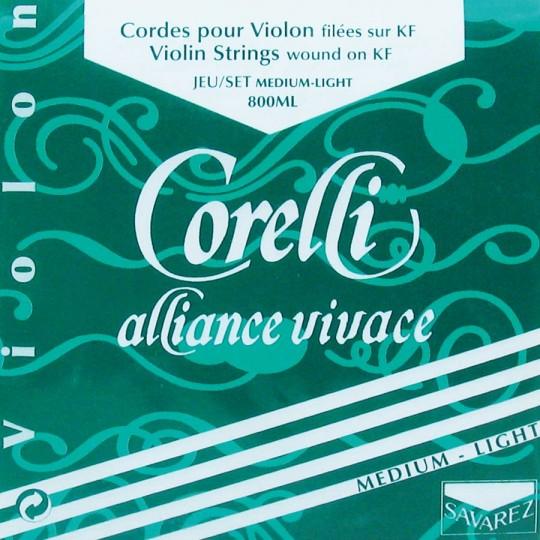 CORELLI Alliance - Set vioolsnaren - E lusje - med.light - 4/4