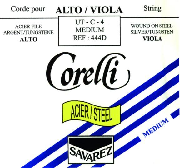 CORELLI Acier/Steel Viola C- snaar, zilver/wolfraam, medium