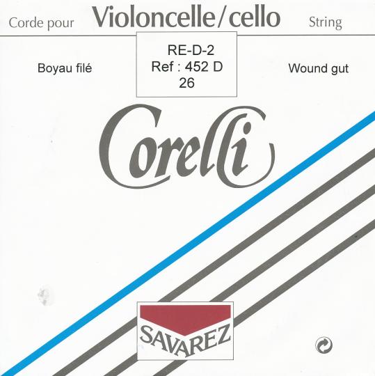 "CORELLI  Darm Cello D- snaar, alu omwikkeld, sterkte 26"""