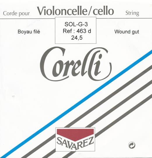 CORELLI  Darm Cello G- snaar, zilver/wolfraam, sterkte 24-1/2