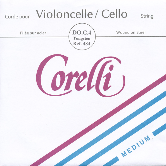 CORELLI Acier/Steel C- snaar voor cello, zilver/wolfraam, medium
