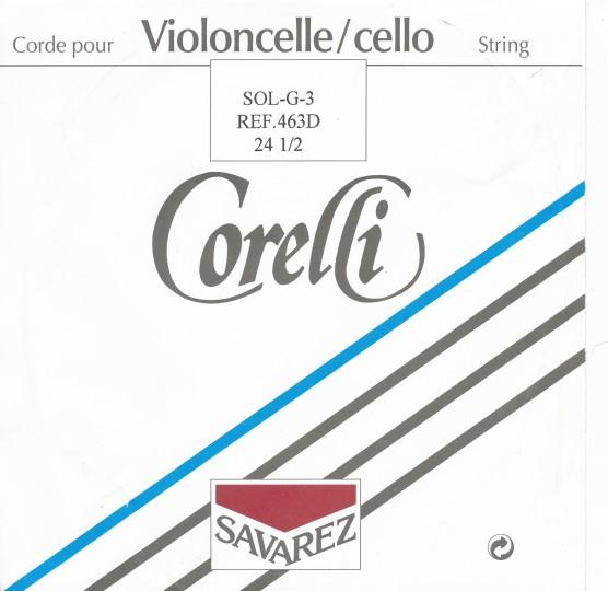 CORELLI  Darm Cello A- snaar, alu omwikkeld, sterkte 19-1/2