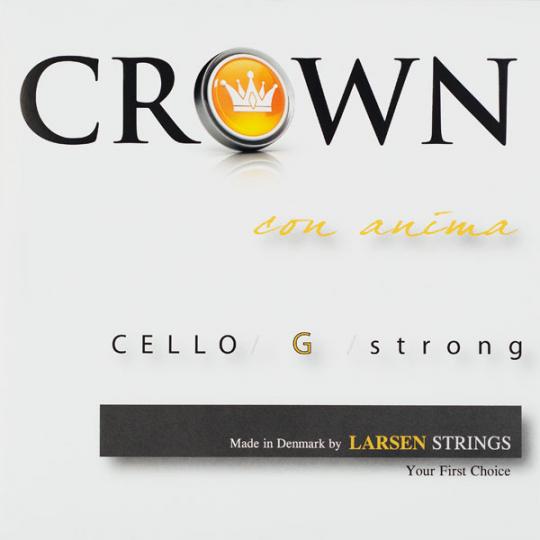Crown Strings Violoncello, G- snaar, zillver, forte