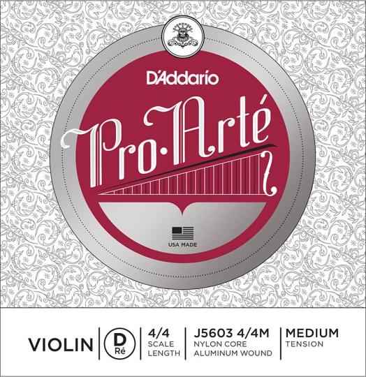 D´ADDARIO ProArté - vioolsnaren - D snaar - medium - 4/4