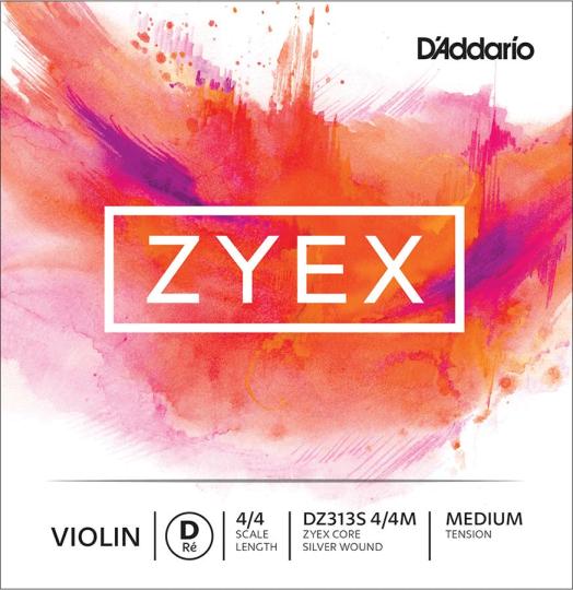 D´ADDARIO Zyex - Vioolsnaren - D snaar - medium - 4/4