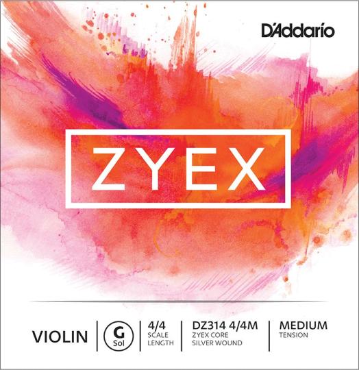 D´ADDARIO Zyex - Vioolsnaren - G snaar - medium - 4/4
