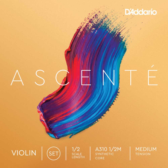 D'Addario  Ascenté Set vioolsnaren - E kogel - medium - 4/4