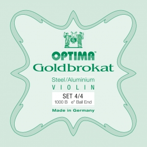 LENZNER-Optima Goldbrokat Set vioolsnaren 4/4