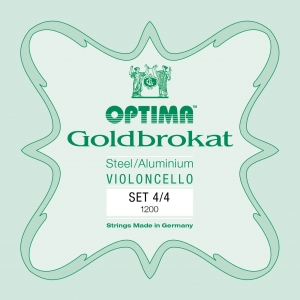 LENZNER-Optima Goldbrokat Set cellosnaren 4/4, medium