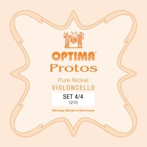 LENZNER-Optima Protos Set cellosnaren 3/4, medium
