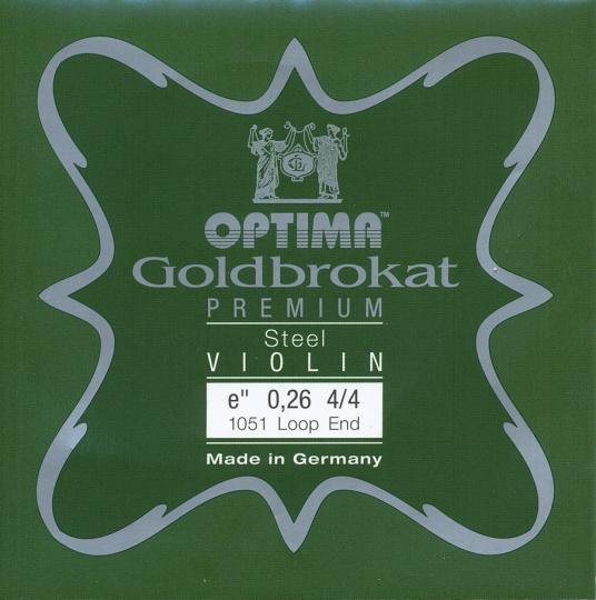 Optima Goldbrokat Premium Violin E-Snaar lusje, sterkte 26