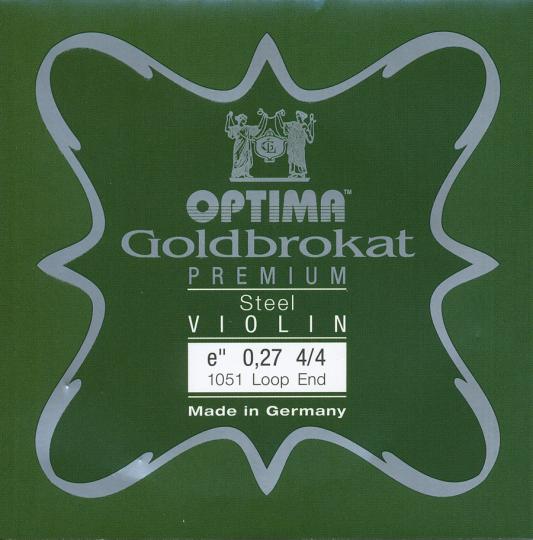 Optima Goldbrokat Premium Violin E-Snaar lusje, sterkte 27