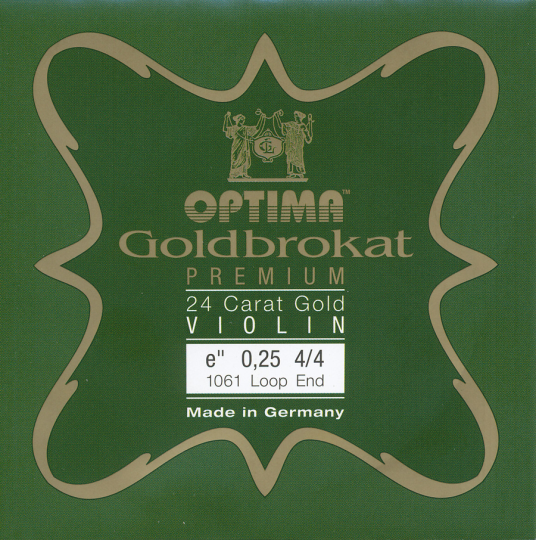 Optima Goldbrokat 24 K Gold Premium Violin E-Snaar lusje