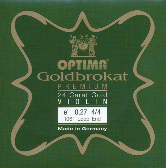 Optima Goldbrokat 24 K Gold Premium Violin E-Snaar lusje, sterkte 27
